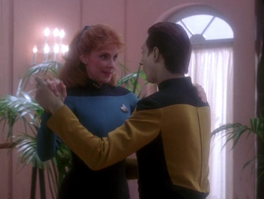 Data dances in this star trek episode