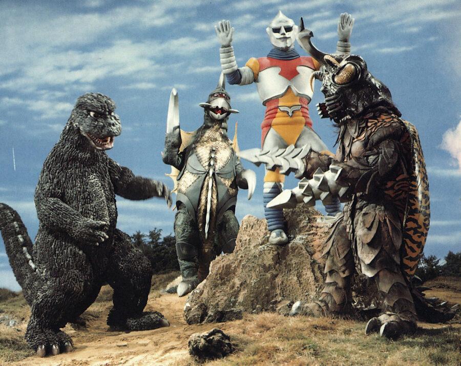 Godzilla and his family