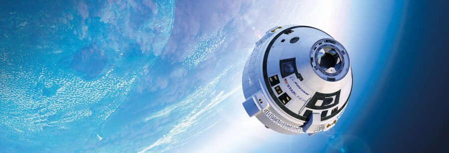 Starliner in space