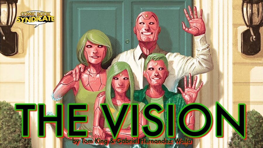Vision plot from a comic