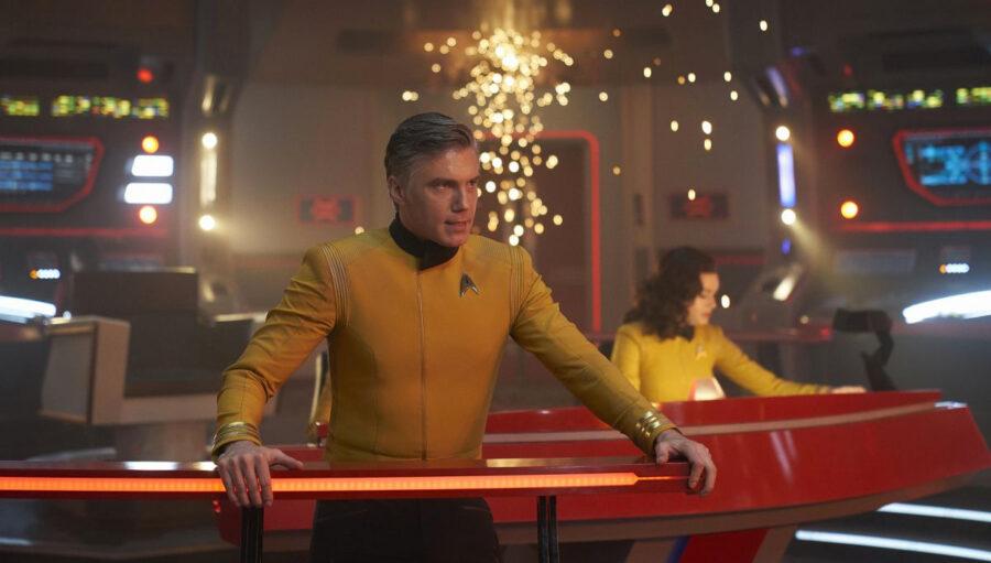 Captain Pike on the Enterprise