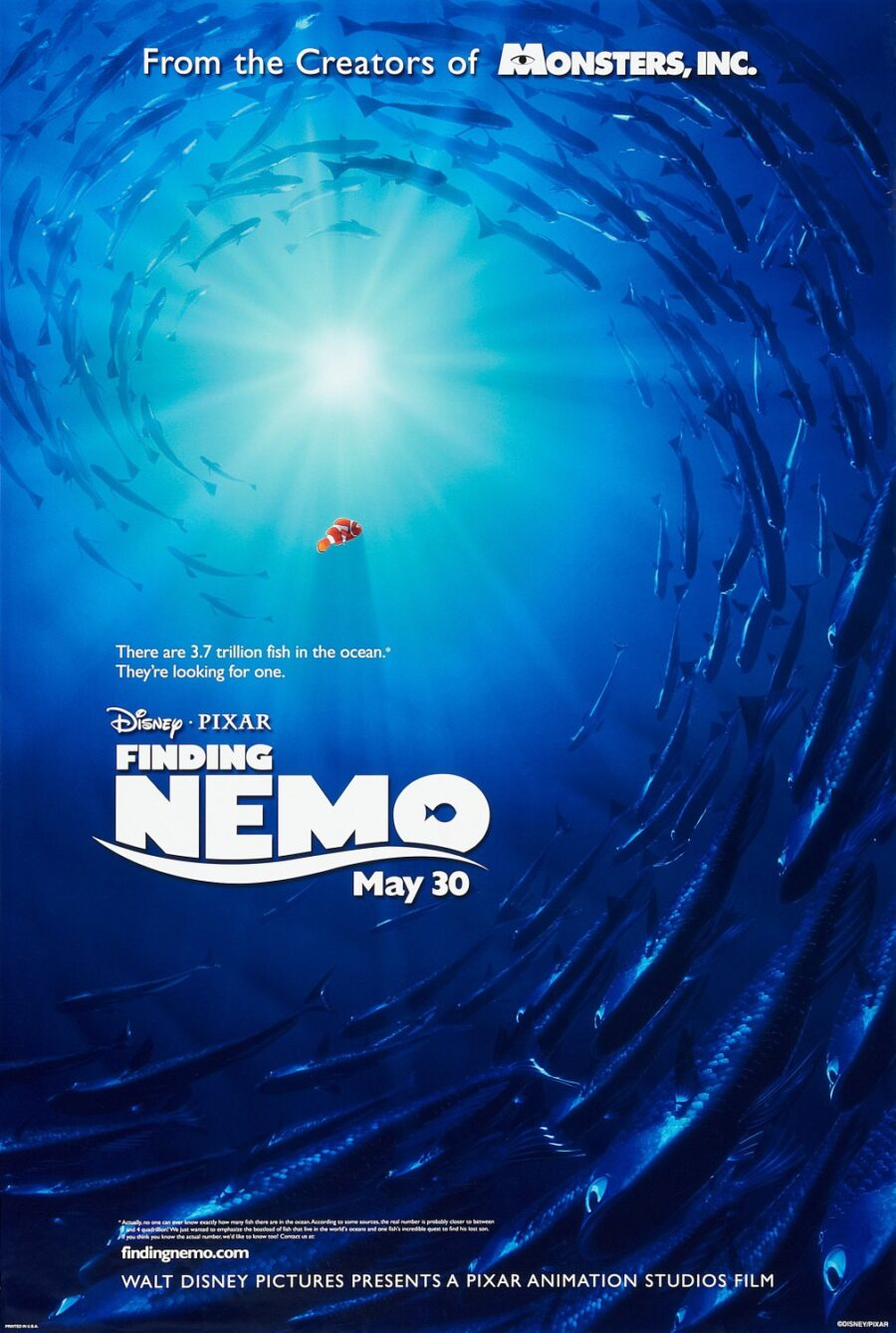 Finding Nemo as a Pixar movie