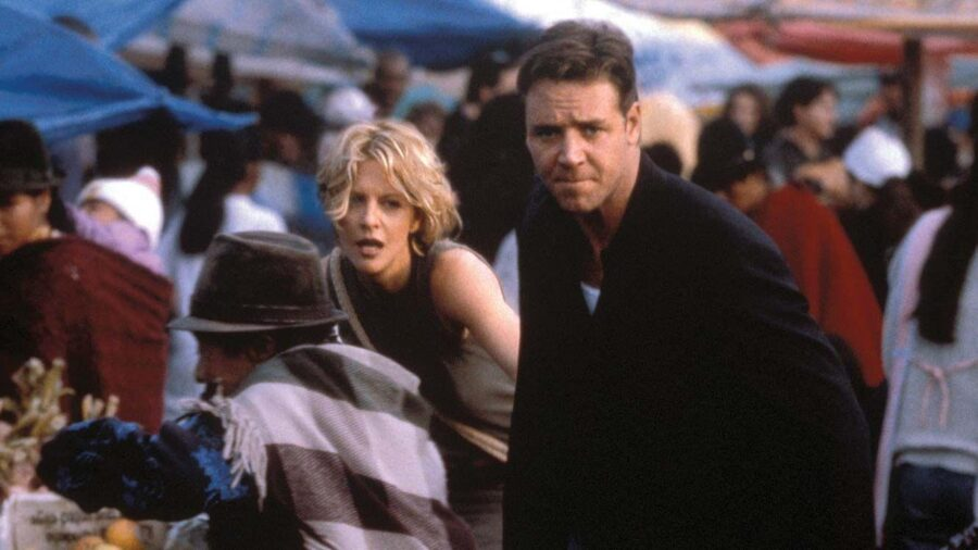 With Russell Crowe