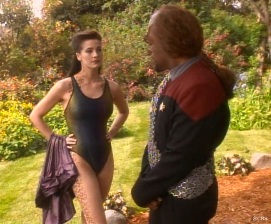 Terry Farrell on Star Trek