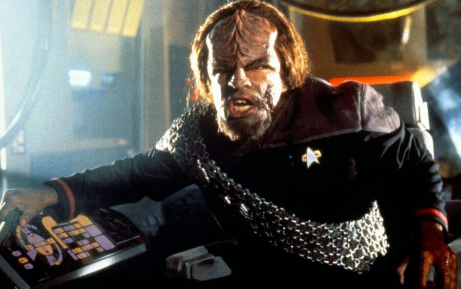 Worf on Star Trek