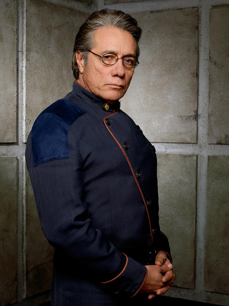 Edward James Olmos in Battlestar Galactica