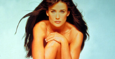demi moore naked feature