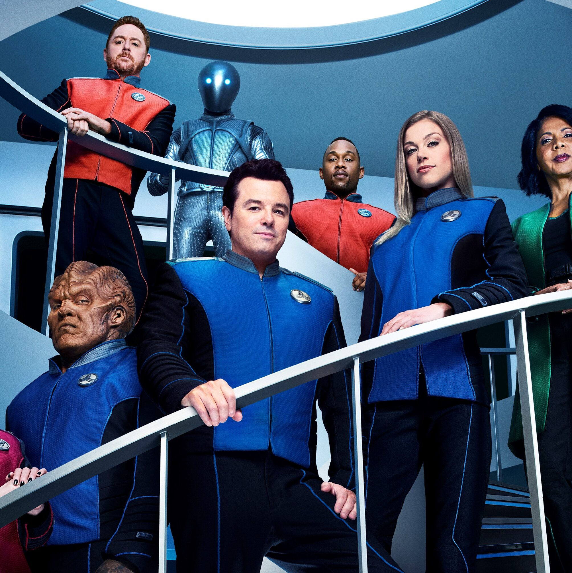 The Orville cast and MacFarlane