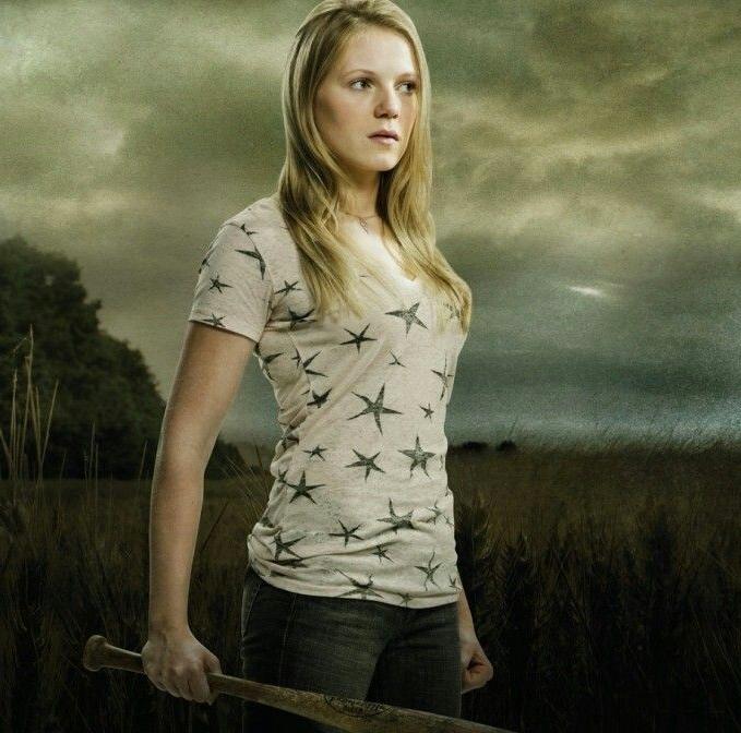 Amy on The Walking Dead