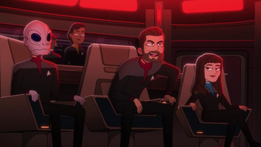 Will Riker and Deanna Troi on Lower Decks