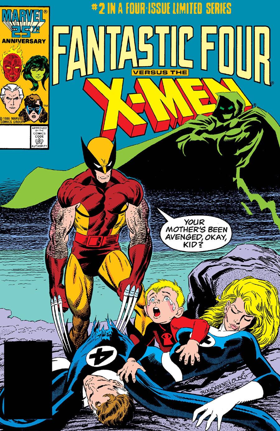 fantastic four versus x-men comic