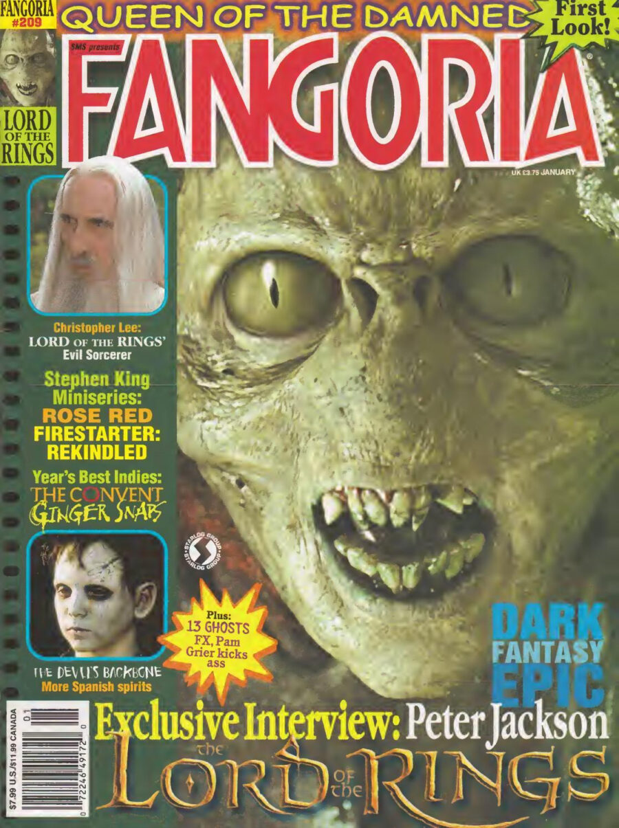 lord of the rings series fangoria
