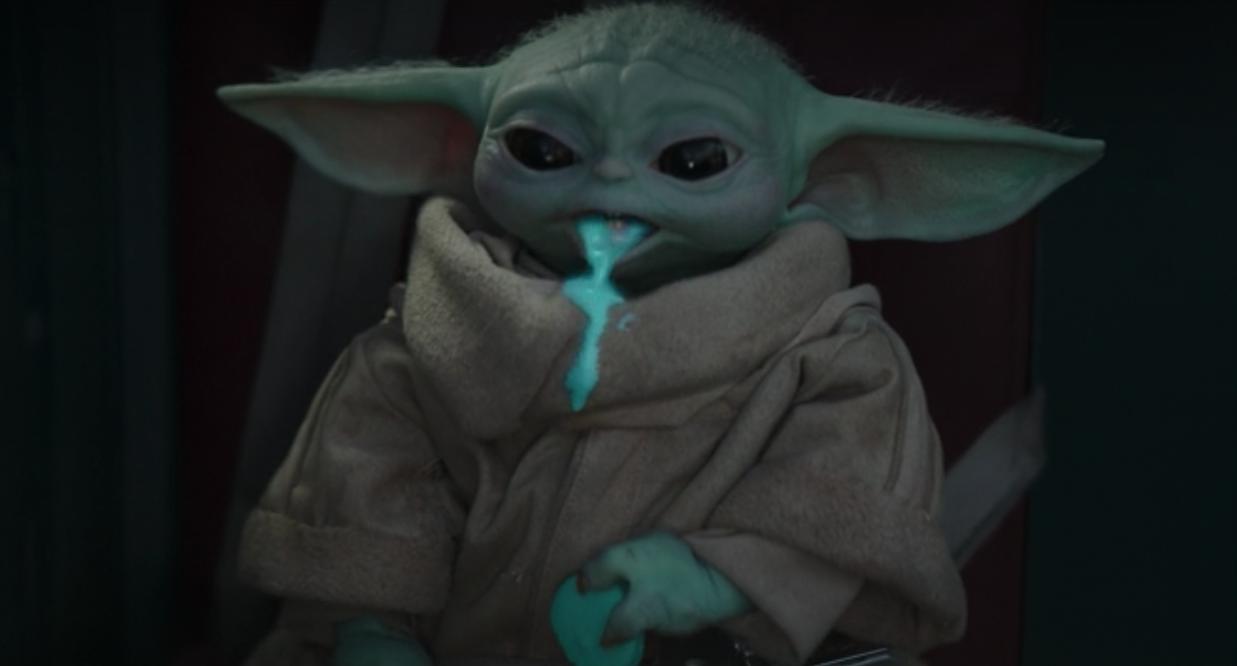 baby yoda throwup