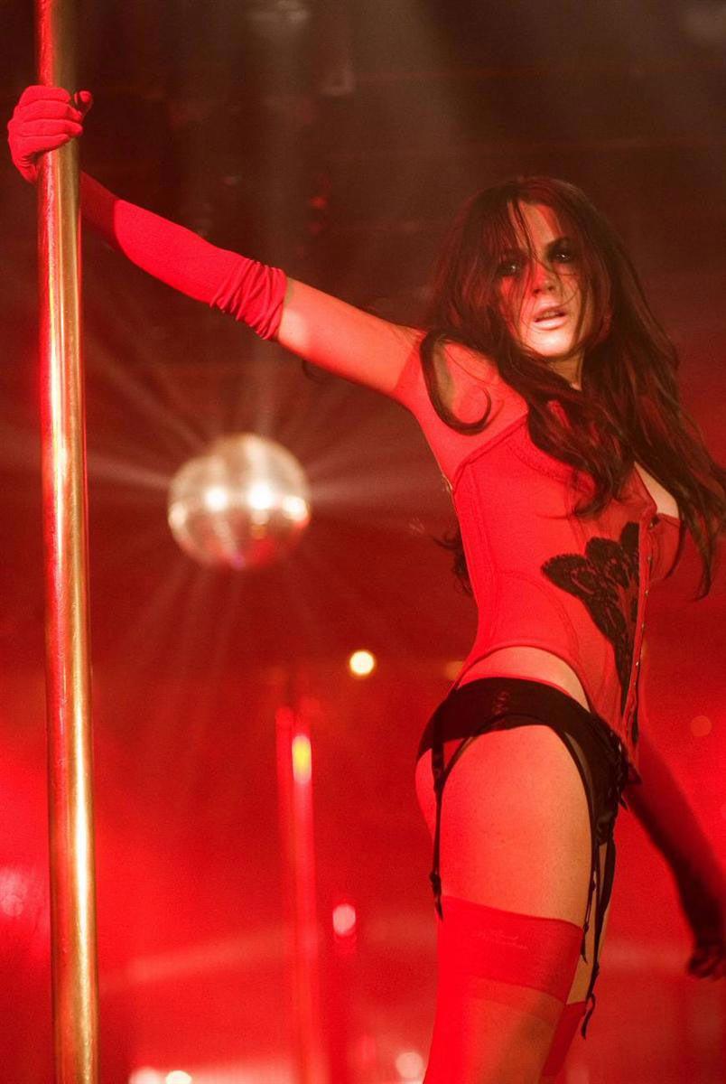 Lindsay Lohan stripping