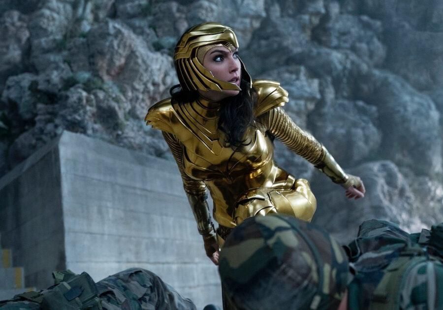 wonder woman 1984 gal gadot golden armor