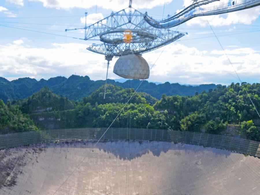 Arecibo radio telescope observatory