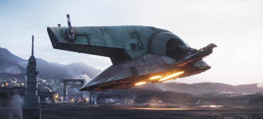 Boba Fett's Ship Landing in The Mandalorian