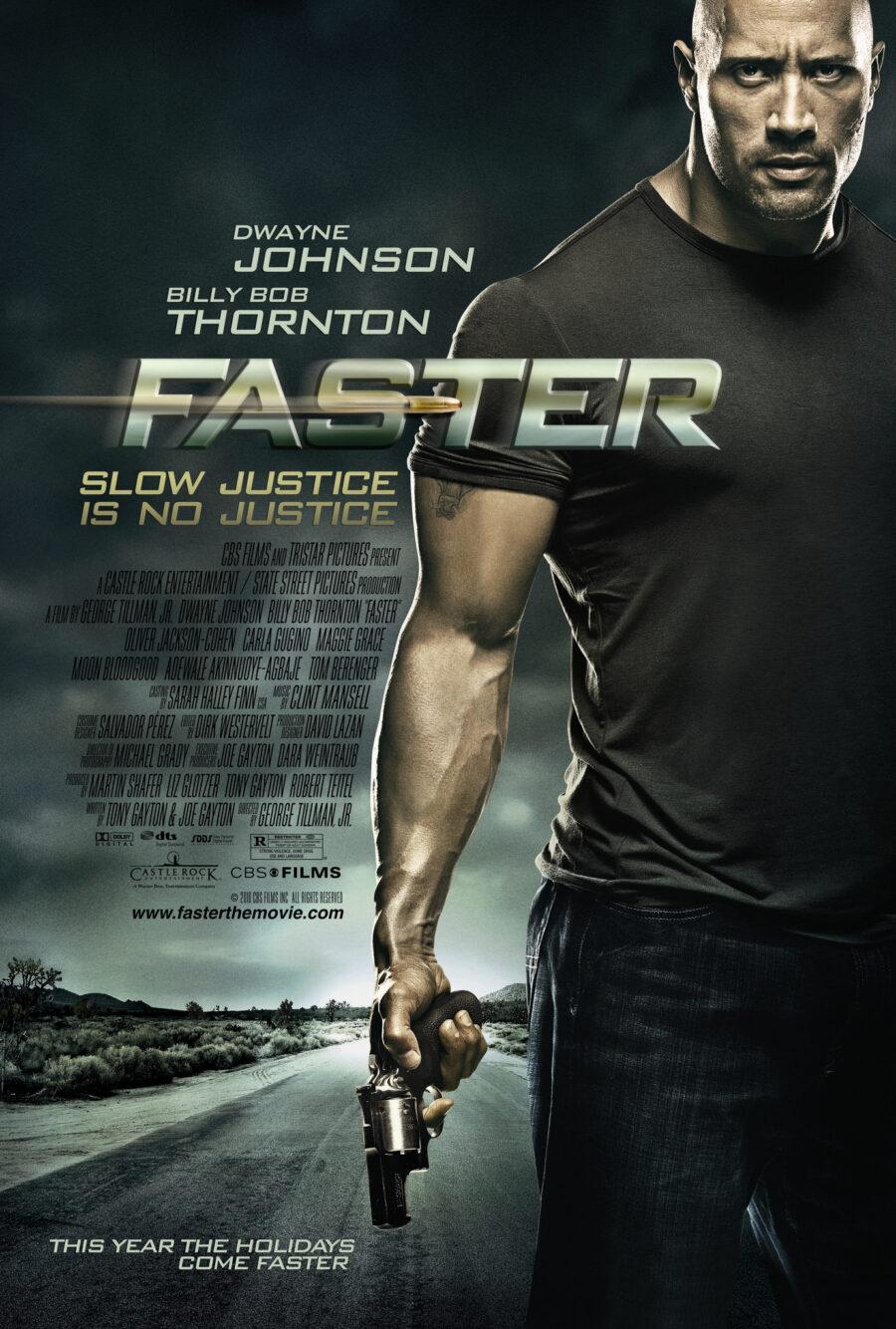 dwayne johnson faster poster