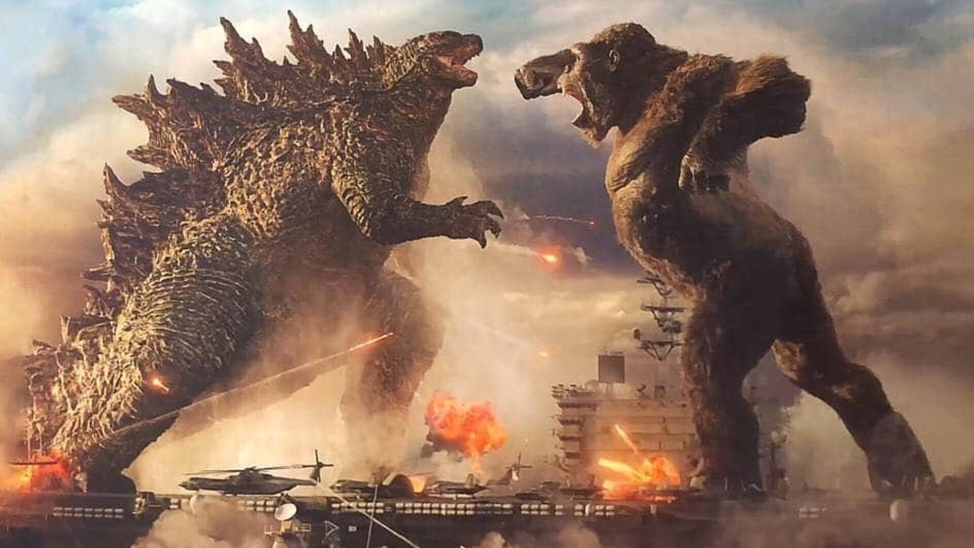 See Kong Punching Godzilla In First Godzilla Vs. Kong Footage