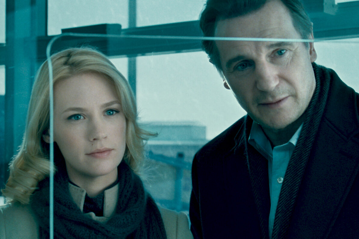 Liam Neeson January Jones Unknown