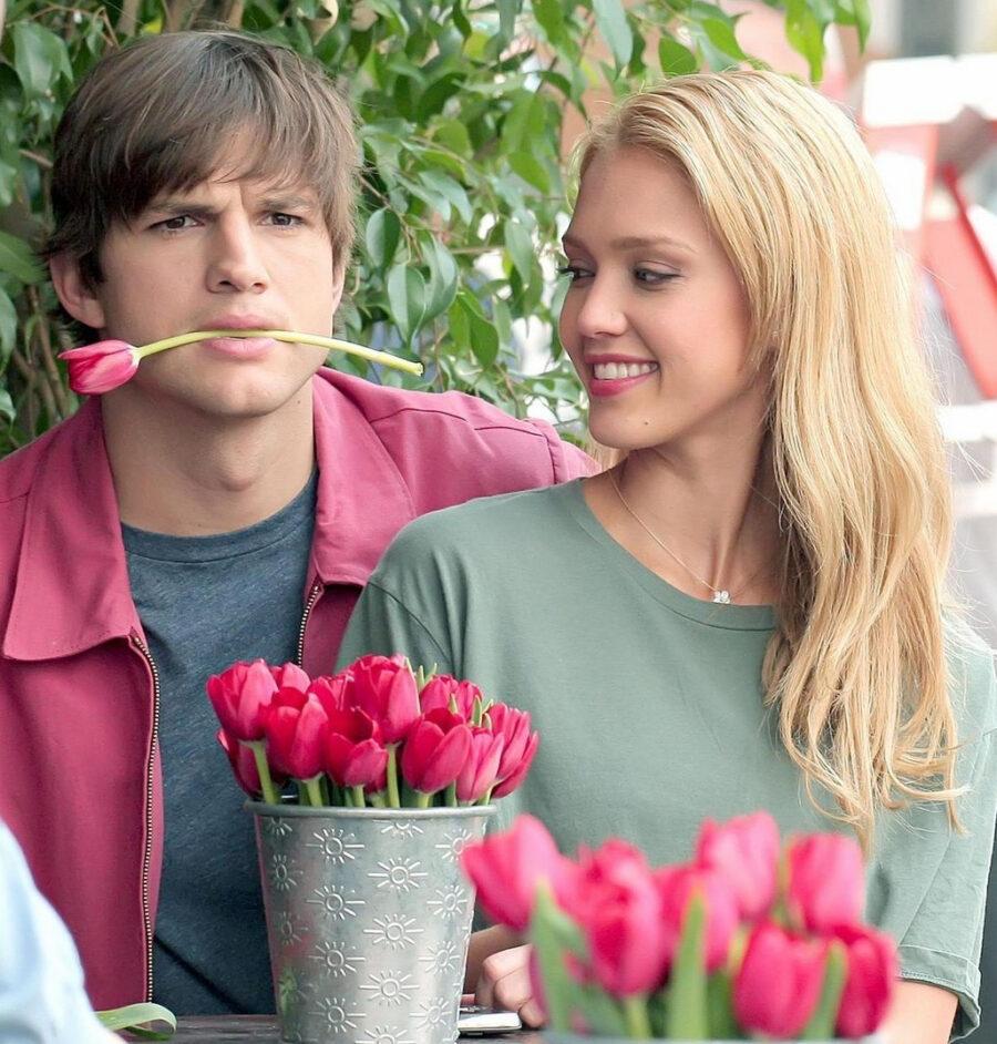 ashton kutcher jessica alba valentines day