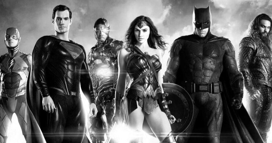 justice league black and white