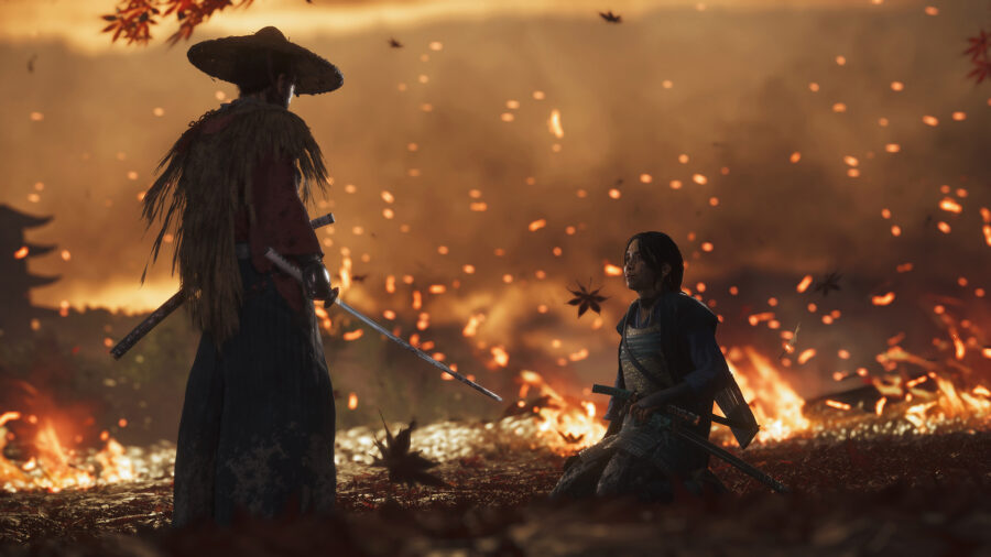 ghost of tsushima fire