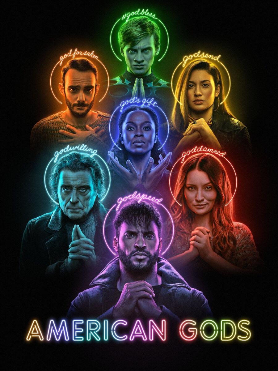 neil gaiman american gods poster