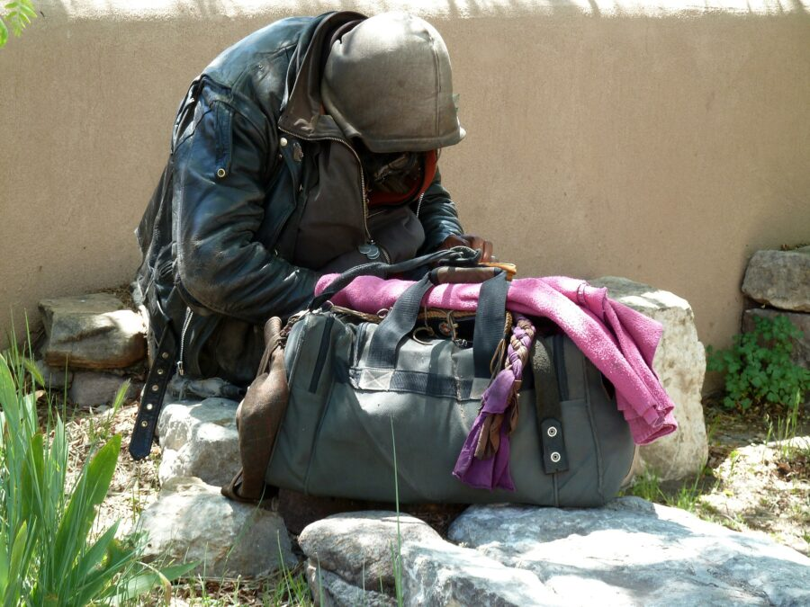 california homeless person