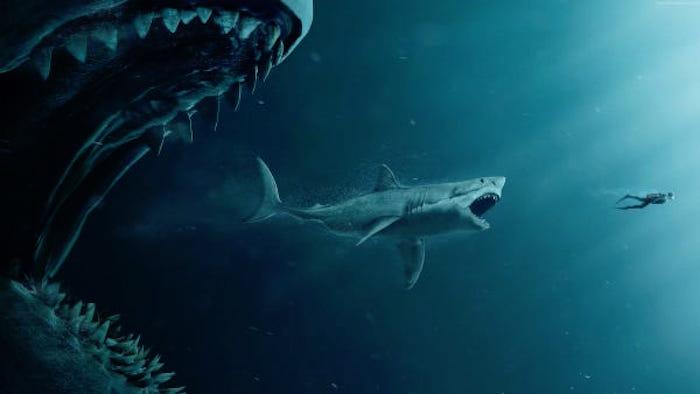 dinosaurs sharks