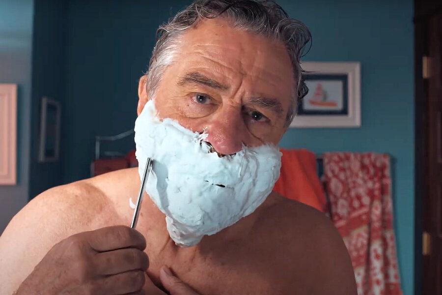 robert de niro shaving