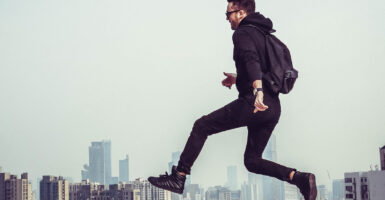 flying man hoverboard