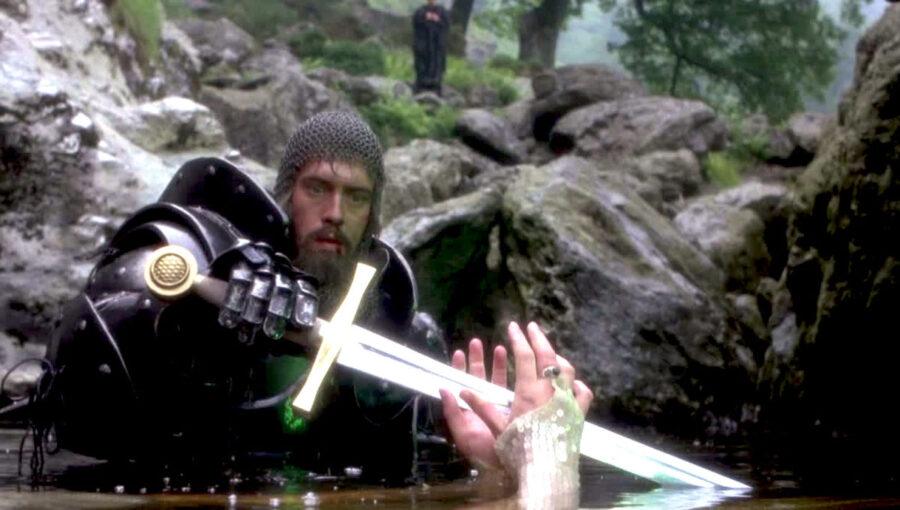 king arthur sword in the lake