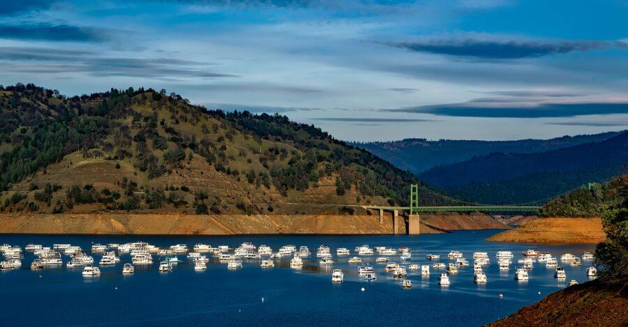 Lake Oroville in California