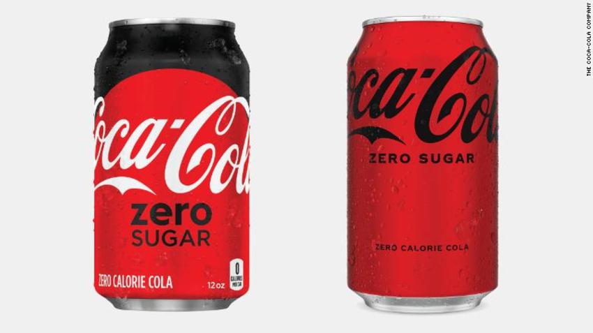 coca-cola zero sugar change