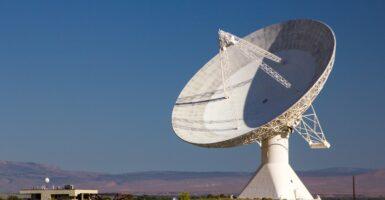 radio waves satellite dish